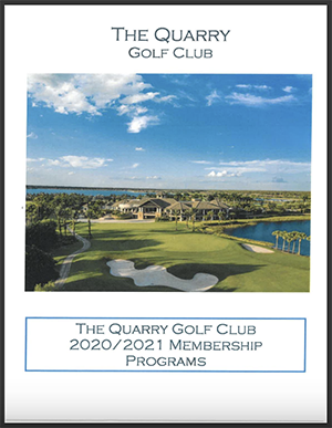 The Quarry Golf Club 2020/2021 Membership Programs Link